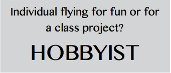 Individual flying for fun? Hobbyist.  Find out what you need to do