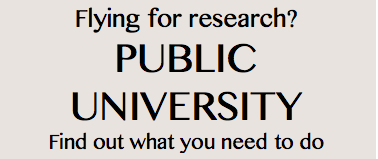 Flying for research? Public University. Find out what you need to do