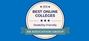 2019 Best Online Colleges Logo by SR Education Group.