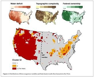 American West map indicating factors for identifying as social ecological region