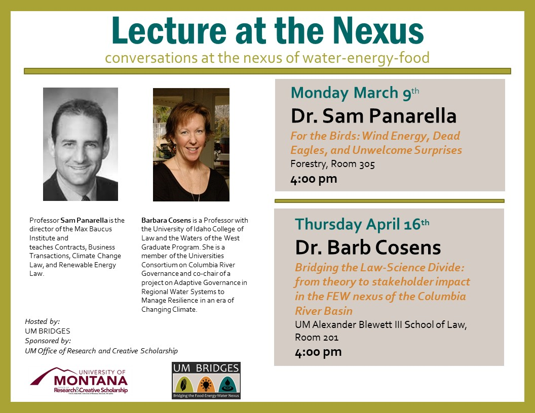 Lecture at the Nexus flyer with times and dates