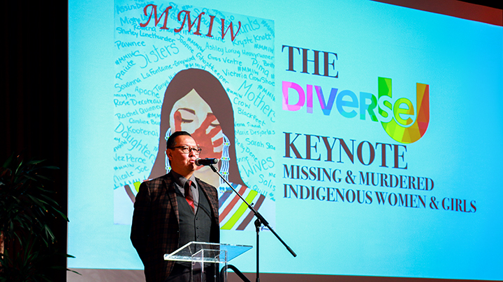 Joseph Grady presenting at DiverseU about Missing and Murdered Indigenous Women