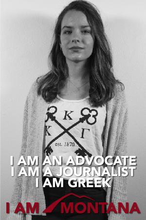 I am an advocate, I am a journalist, I am greek, I am Montana