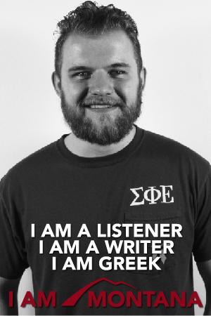 I am a listener, I am a writer, I am Greek, I am Montana