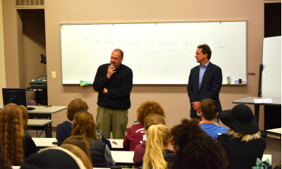 Mayor Engen and Governor Bullock stand before GLI class