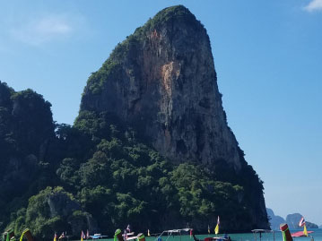 An ocean view in Thailand, during McKenna Jones' abroad experience.