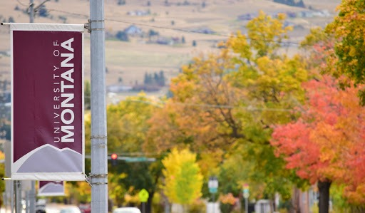 A picture of the University of Montana banner