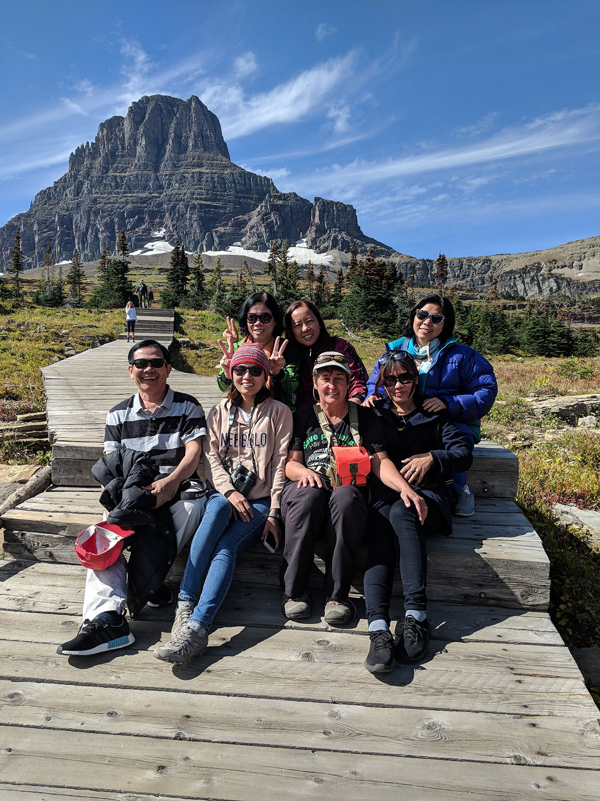Delegates from Vietnam traveling in Glacier National Park with members of UM faculty