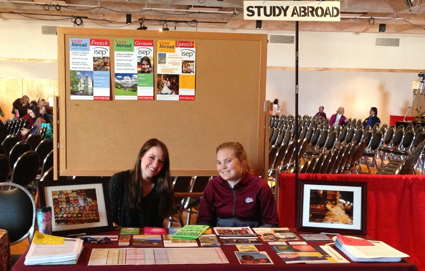 Students tabling for Global Engagement at a student event