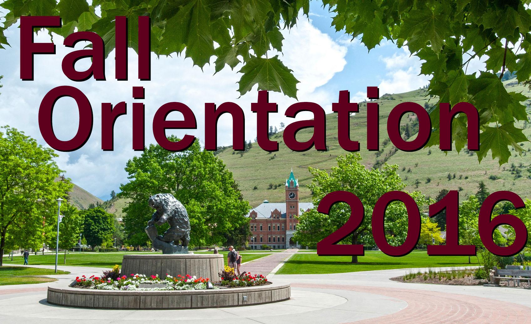 Fall Orientation 2016