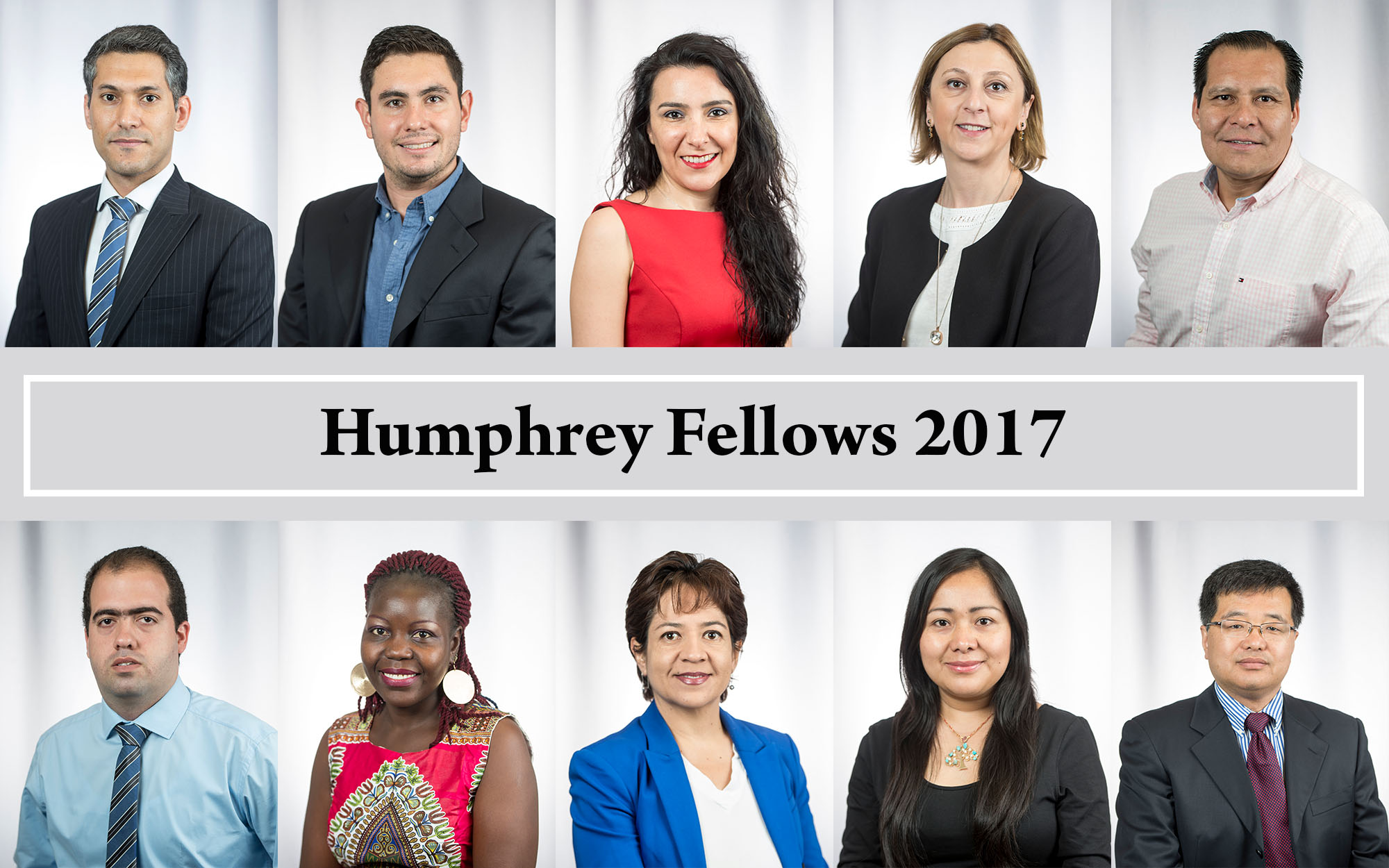 Compilation of 2017 Humphrey Fellows headshots