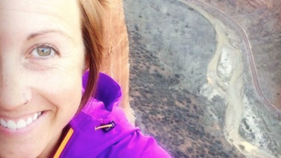 Selfie of Jenny Sheets overlooking a canyon.