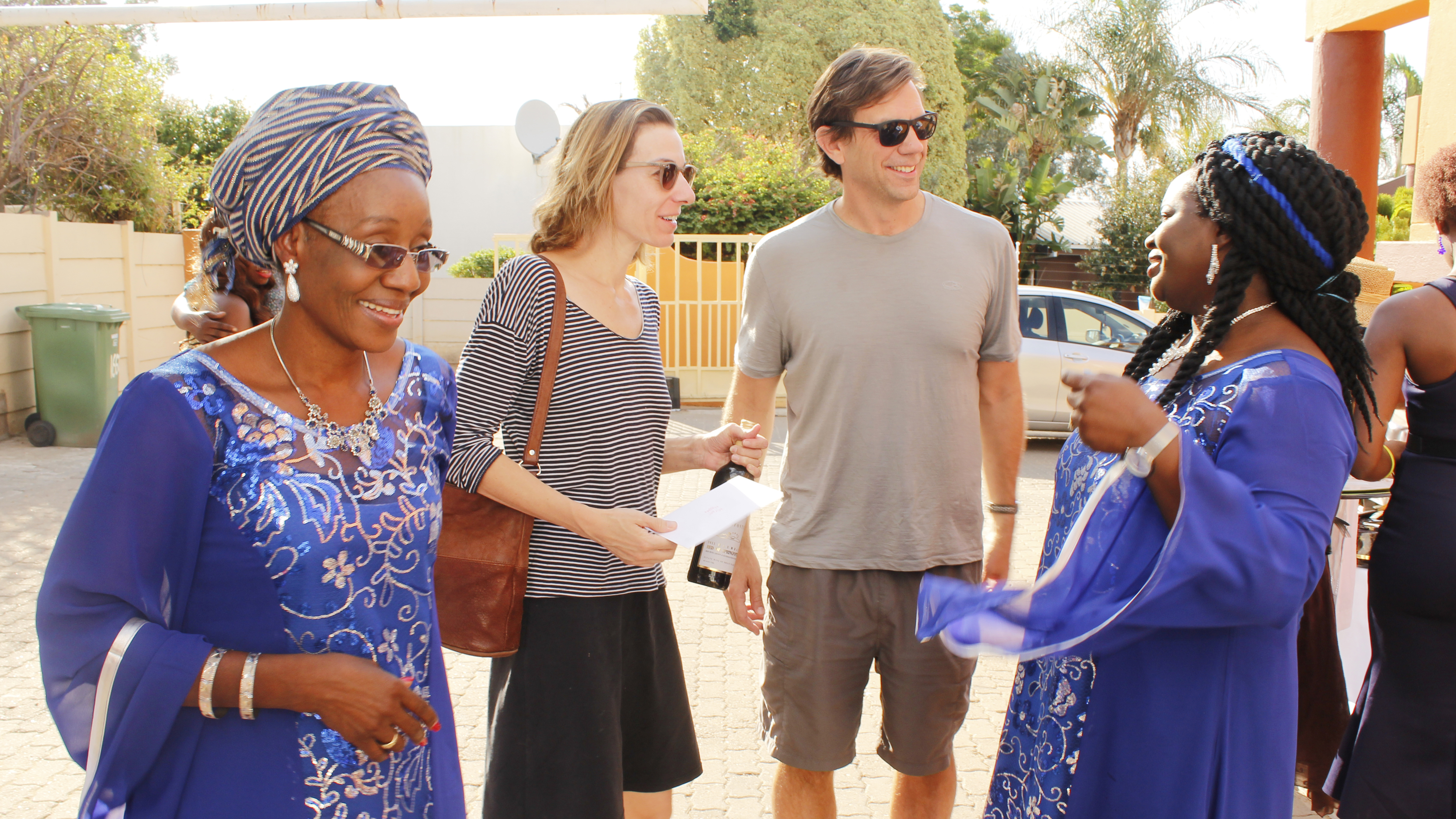 A group of people standing outside in Nigeria.