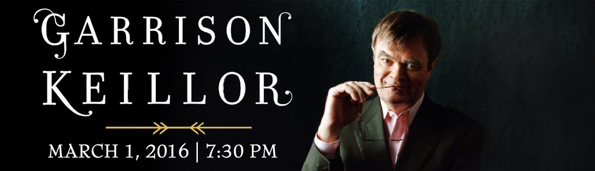 Buy tickets to Garrison Keillor on March 1, 2016 at 7:30pm