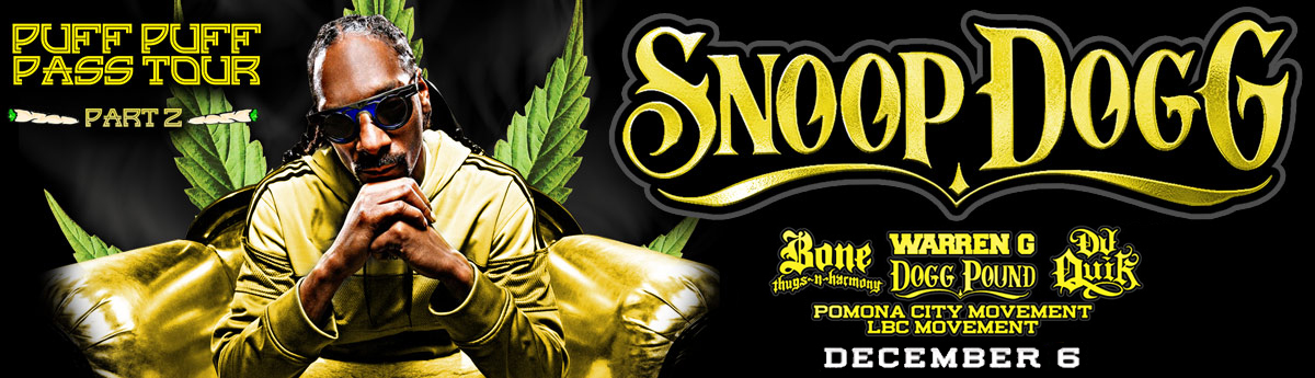 Buy tickets to Snoop Dogg December 6 8pm