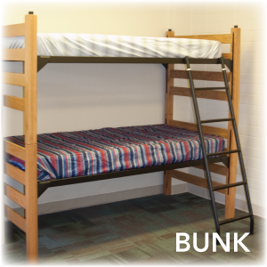 Bunked Beds Showing One Bed On Top Of Another Where The Are Now Attached Together
