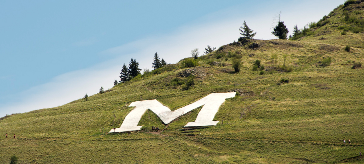 Photo of the 'M' on Mount Sentinel