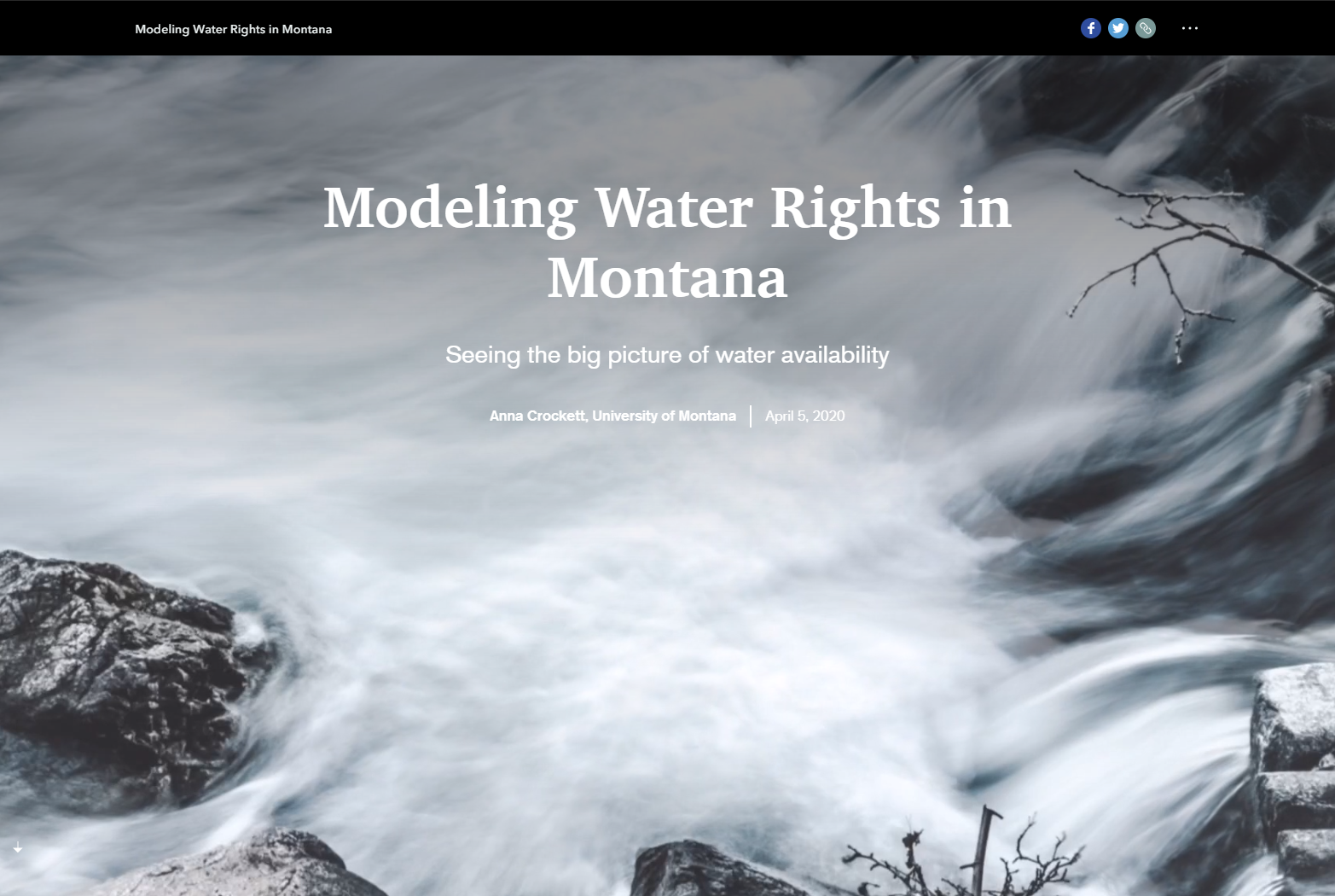 The Missing Link: Modeling water rights in Montana