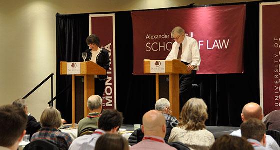 Professors Elaine Gagliardi and Martin Burke