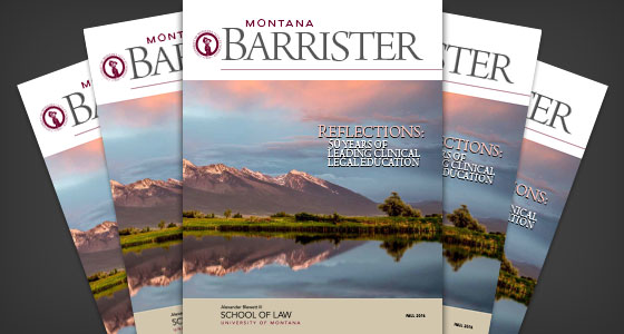Fall 2016 Montana Barrister Magazine Cover