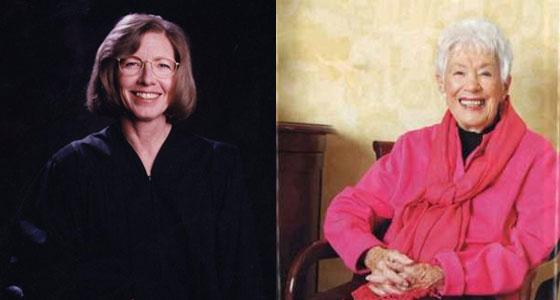 Justice Karla Gray and Fern Blewett