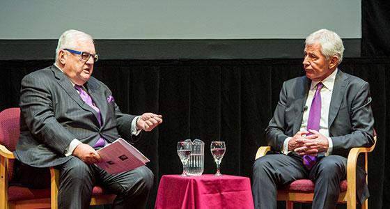 Robert Bennett and Chuck Hagel