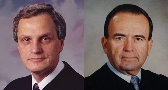 Judge Ralph B. Kirscher and Judge John L. Peterson