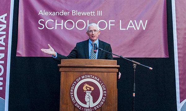 Zander Blewett speaks at the Naming Ceremony
