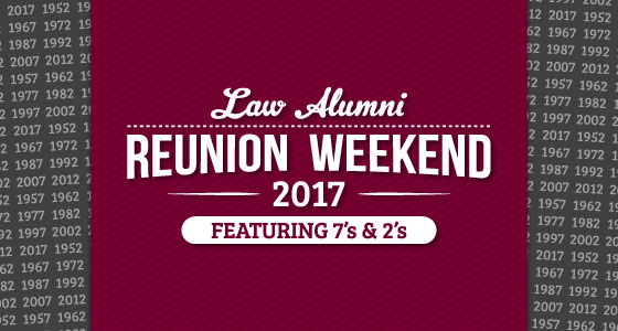 Law Alumni Reunion Weekend 2017 banner