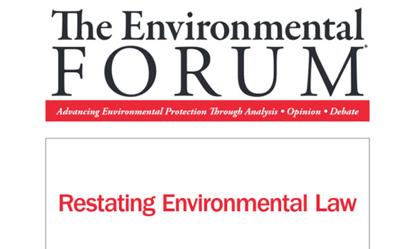 Environmental Forum Cover
