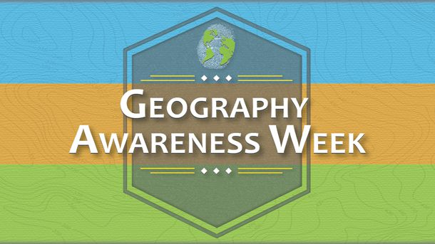 Geography awareness week logo
