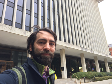 Ezra Shearer at National Geographic headquarters