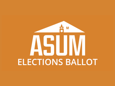 ASUM Elections Ballot