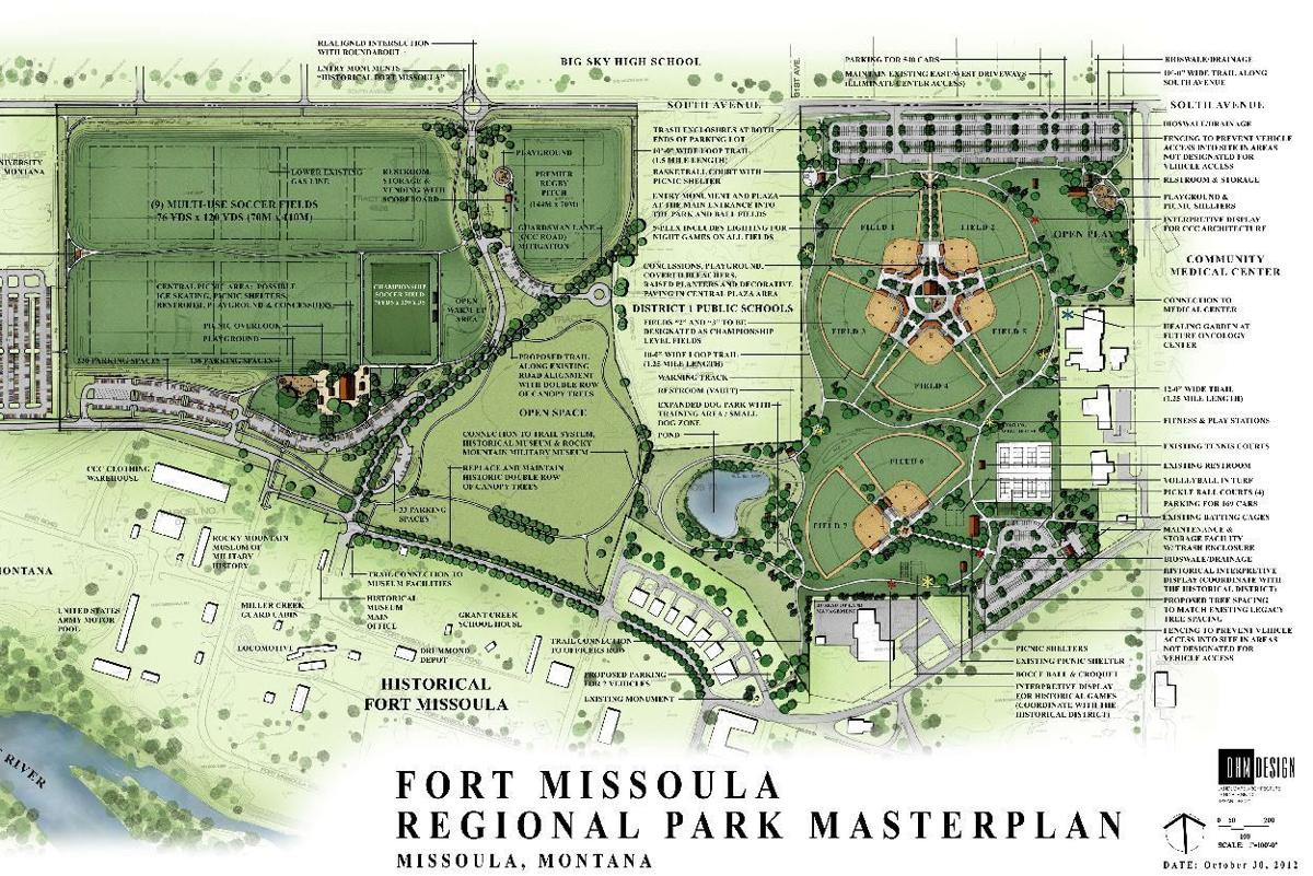Map of Fort Missoula