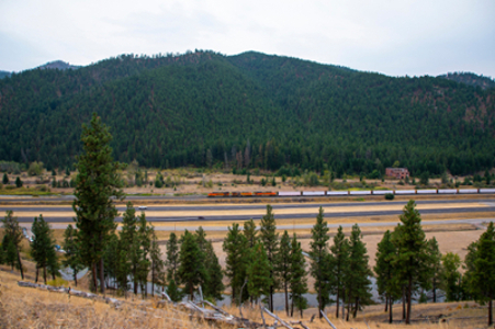 A highway in Montana