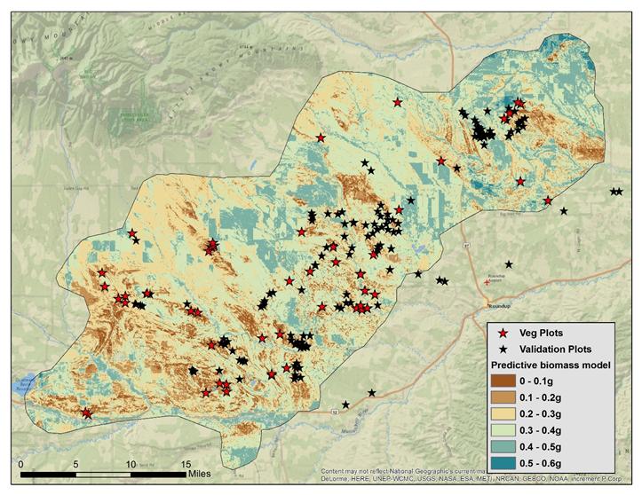 2019 arthropod sampling in relation to predictive model output for the Lake Mason study area near Roundup, Montana