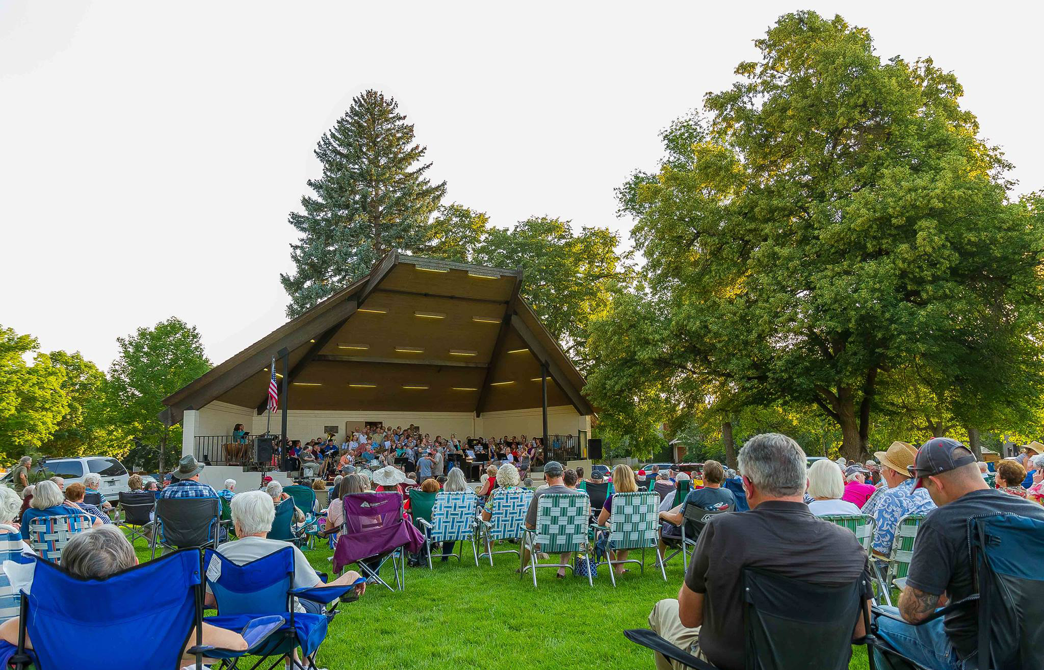 Missoula City Band Performance in Bonner Park