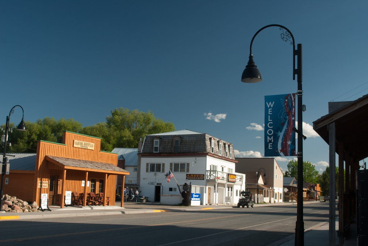 Main street of the small town of Augusta, Montana (Photo by Rick and Susie Graetz)