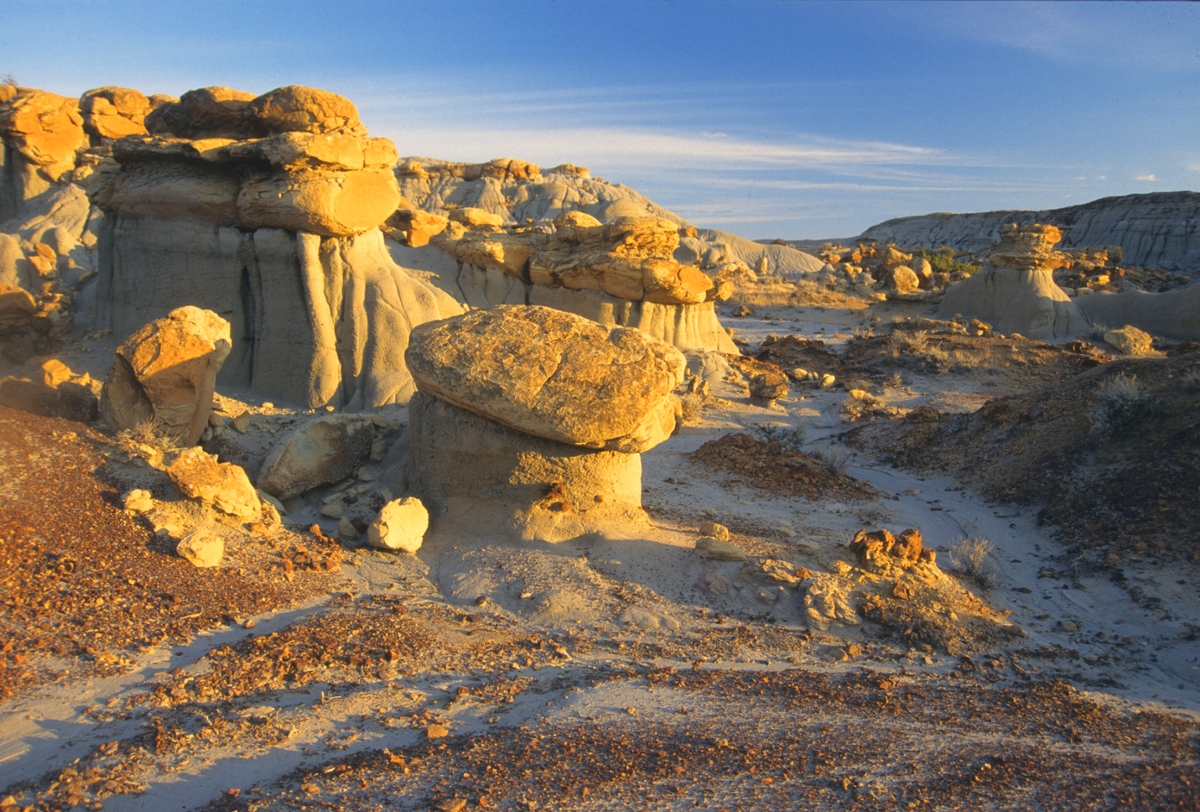Badlands near Jordan: Formations such as these near Jordan are fairly common in the badlands of eastern Montana.