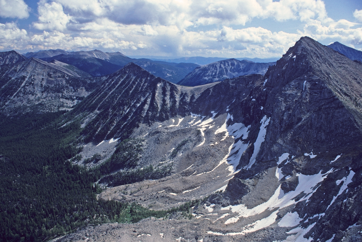 The Maloney Basin in the Anaconda-Pintler Wilderness (Photo by Rick and Susie Graetz)