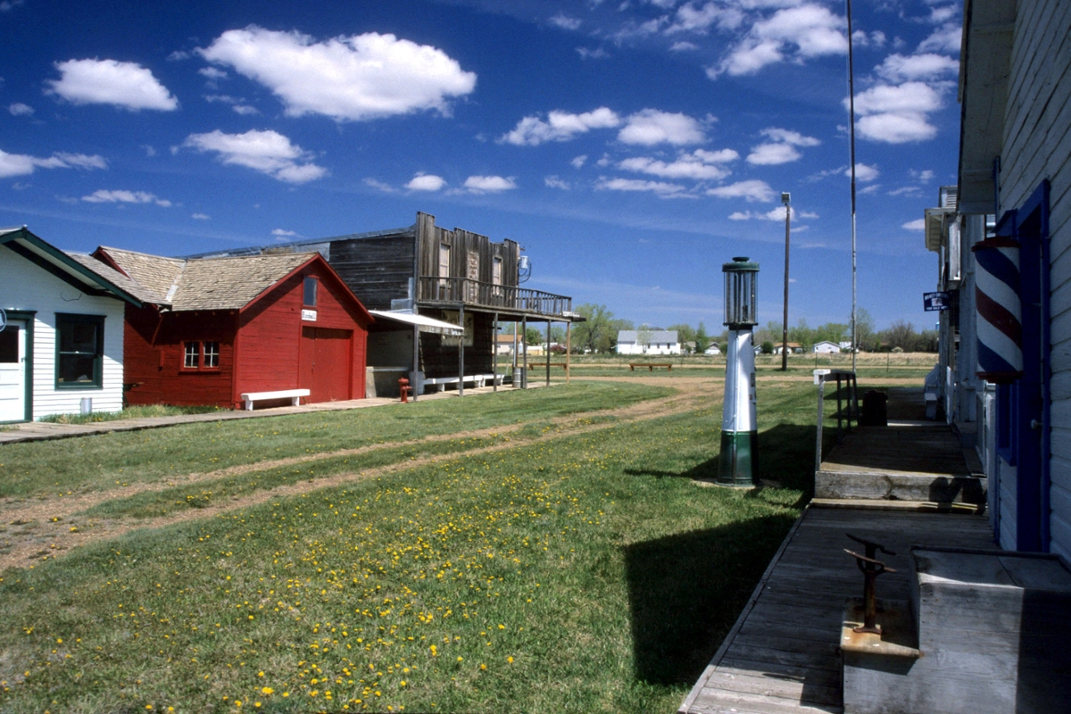 Pioneer town in Scobey, a gathering of many otherwise doomed homestead-era buildings, is a must-see in northeast Montana