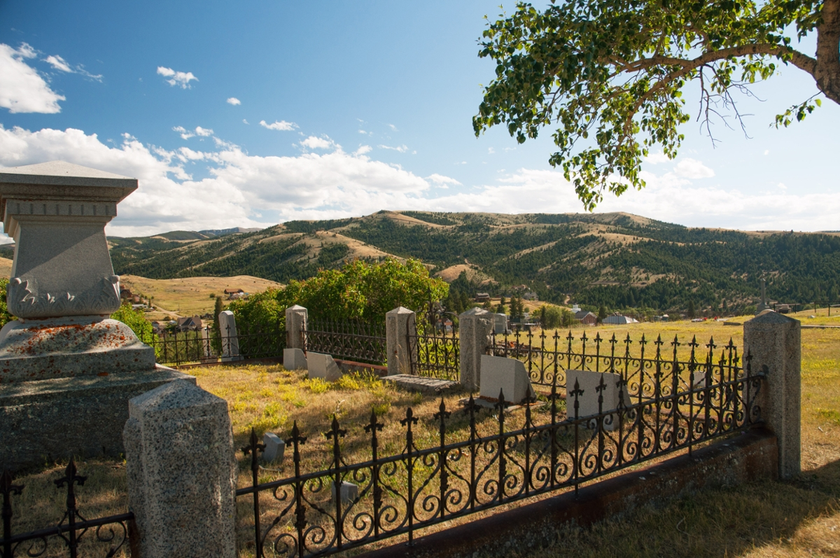 The Virginia City Cemetary overlooks its namesake town below. (Photo by the Rick and Susie Graetz)