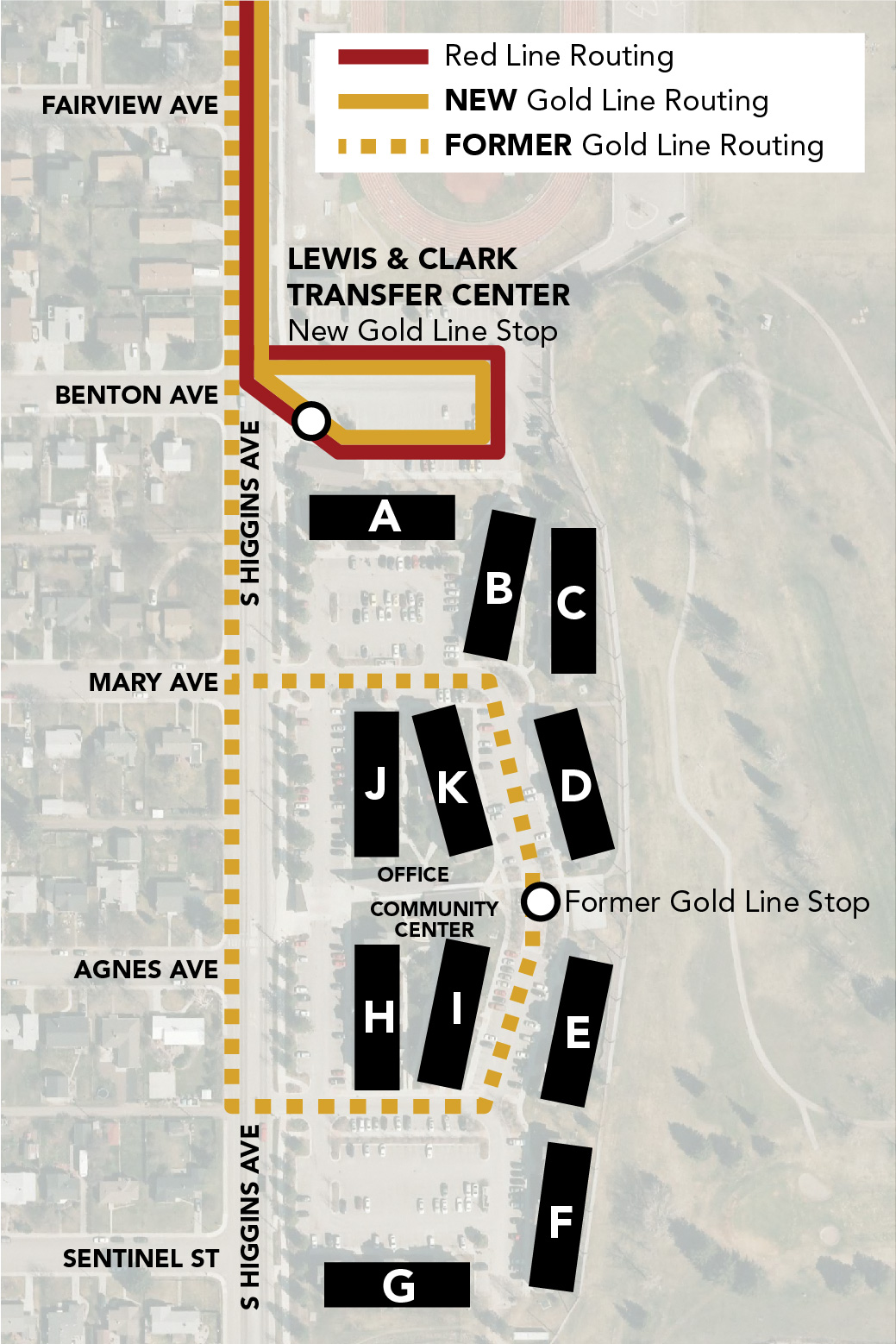 Gold line downtown late night office of transportation map of gold line changes publicscrutiny Gallery
