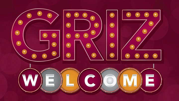 Griz Welcome marquee sign logo
