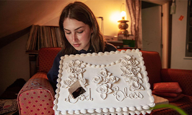 """Sarah Hendryx holds a sculpture named """"Have Any Piece You'd Like,"""" in her home in downtown Missoula, Sept. 11, 2019."""