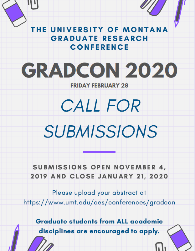 University Of Montana Graduation 2020.Submit To Gradcon 2020 Um Graduate And Professional
