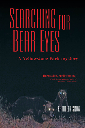 book cover with bears at night